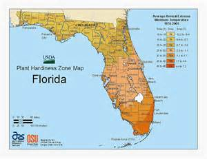 florida agriculture map updated 2011 florida plant hardiness zone map