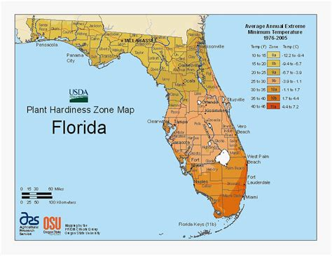 agricultural map of florida updated 2011 florida plant hardiness zone map