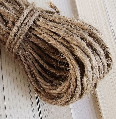 Tali Rami 3mm plain coarse hemp rope handmade diy twiner rope jute rope
