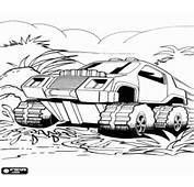Hot Wheels Monster Truck In Action Coloring Page