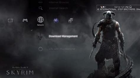 theme psp skyrim what theme wallpaper do you use on your ps3 playstation