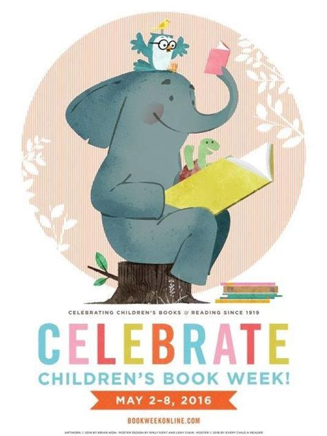 in celebration of books peek at the poster for children s book week