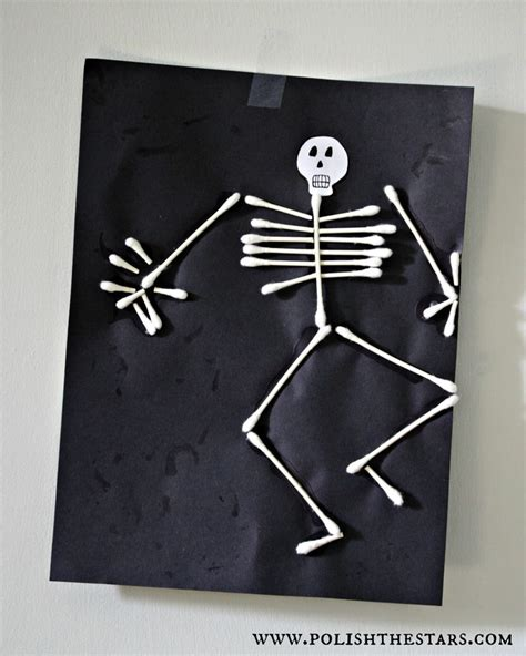 q tip skeleton polishthestars com just for kids pinterest