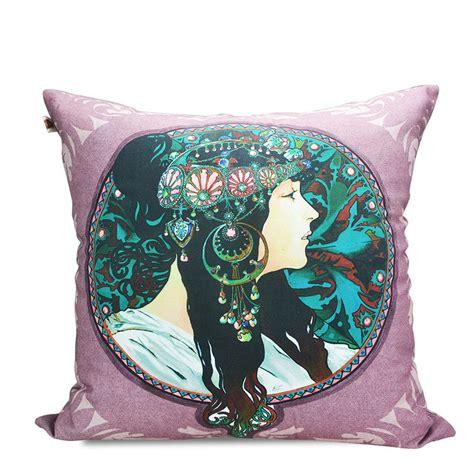 ancient goddess print pillow cushion pillow fabric