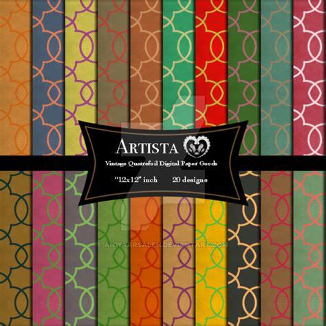 vintage patterned digital paper vintage quatrefoil digital pattern scrapbook paper by