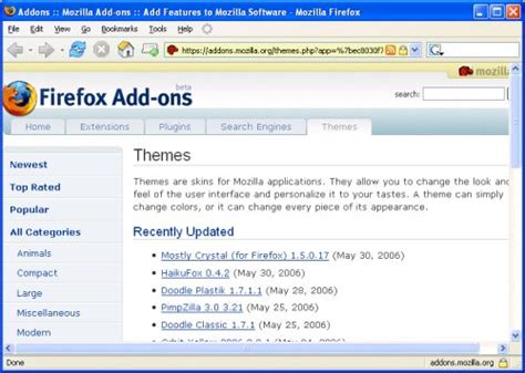 firefox appearance themes web browsing internet access online support centre
