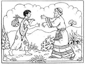 prodigal coloring page free coloring pages of the parable of the lost
