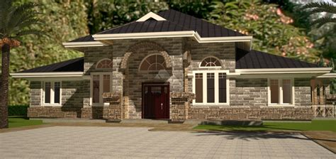 home design plans with photos in kenya arch porch bungalow house plan david chola architect