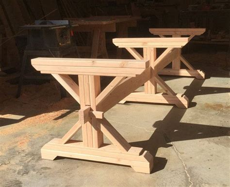 farmhouse triple trestle table diy kit   trestle