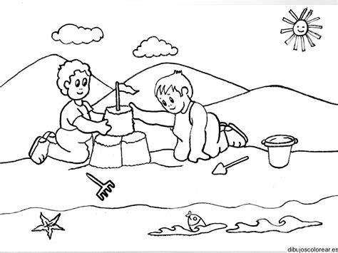 imagenes de vacaciones animadas para colorear dibujo de ni 241 os en verano