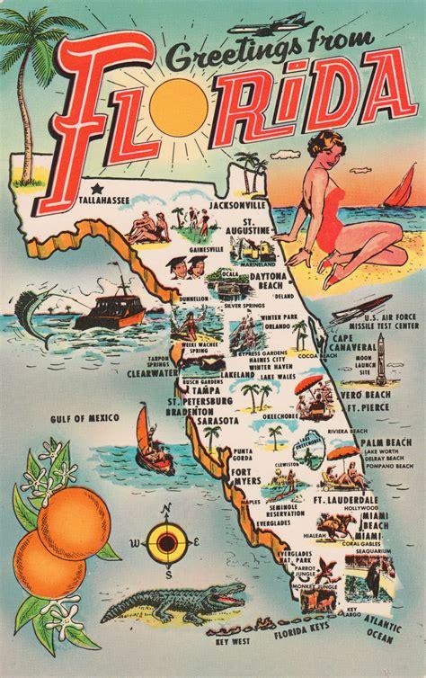 printable postcards florida map postcards postcard roundup
