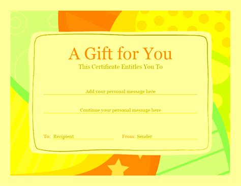 download gift certificate template free for microsoft