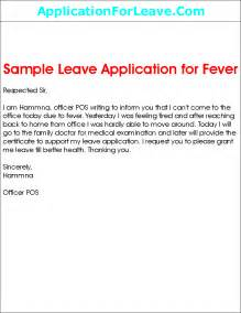 Write Application Leave College Sample Leave Application For Fever