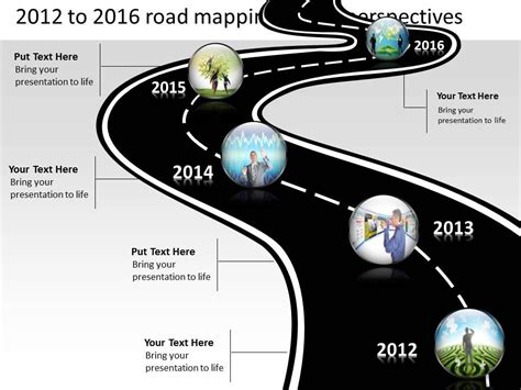 Product Roadmap Timeline 2012 To 2016 Road Mapping Future Perspectives Powerpoint Templates Roadmap Timeline Template Ppt