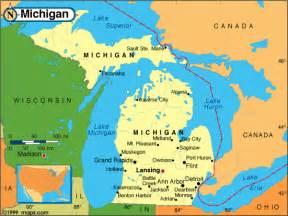 Michigan On Map by Michigan Map