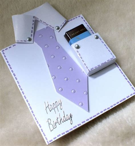 Handmade Shirts - handmade birthday shirt tie card with fre folksy