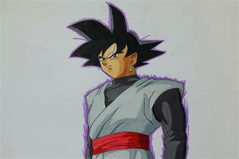 imagenes de goku black drawing black goku dragon ball super youtube