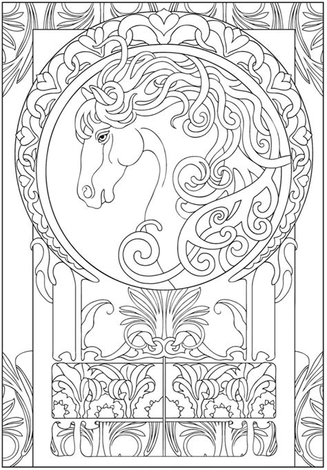Art Nouveau Coloring Page | art nouveau coloring pages az coloring pages