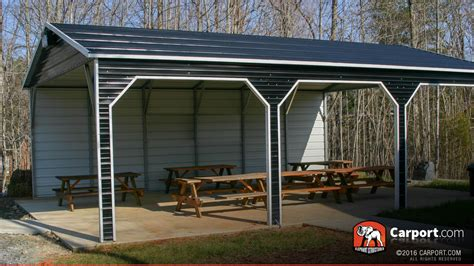 how to find inexpensive car shelter solutions metal park picnic shelter 18 x 26 x 10 shop metal buildings