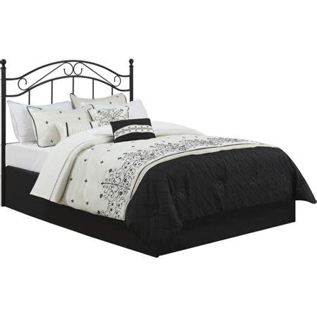 size headboard black wrought iron metal bed frame