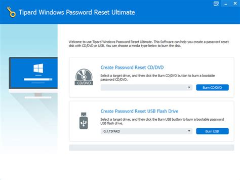 windows password reset gui how to use tipard windows password reset