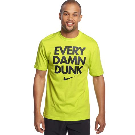 T Shirt Every Slam Dunk by Nike Every Damn Dunk Tshirt In Green For Cyber Black