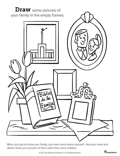 lds coloring pages of family family pictures