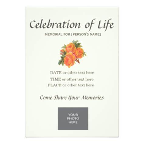 memorial celebration invitations announcements zazzle