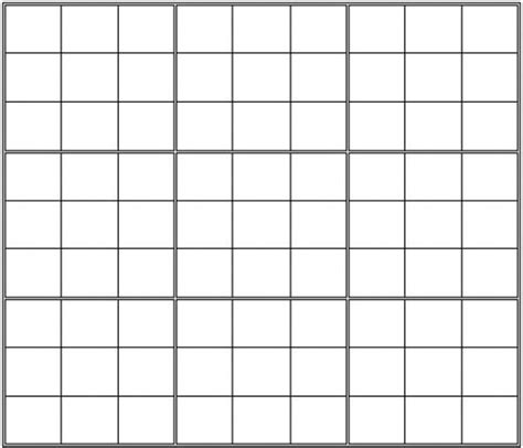 printable sudoku grid printable blank sudoku grid