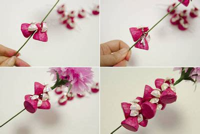 How To Make Beautiful Paper Flowers - how to make beautiful crepe paper flowers and chocolates