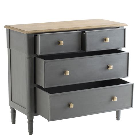 commode 4 tiroir commode ch 234 ne gris 233 4 tiroirs