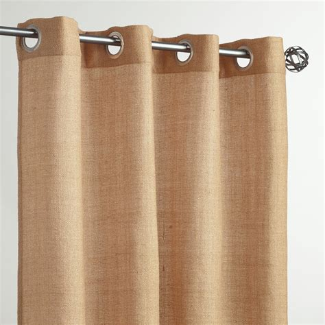 world market outdoor curtains beige grommet top textured outdoor curtains set of 2