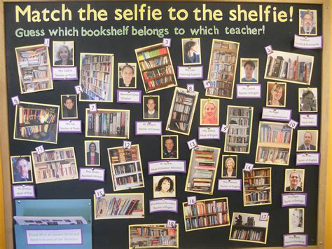 Match Board competition match the selfie to the shelfie hppc library
