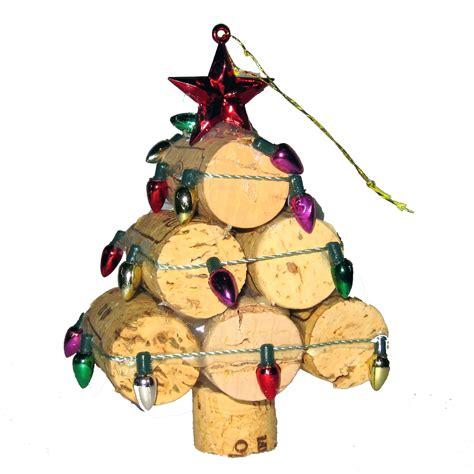 wine cork christmas tree ornaments recycled wine cork mini tree ornament