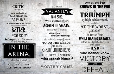 printable theodore roosevelt quotes the man in the arena theodore roosevelt on behance
