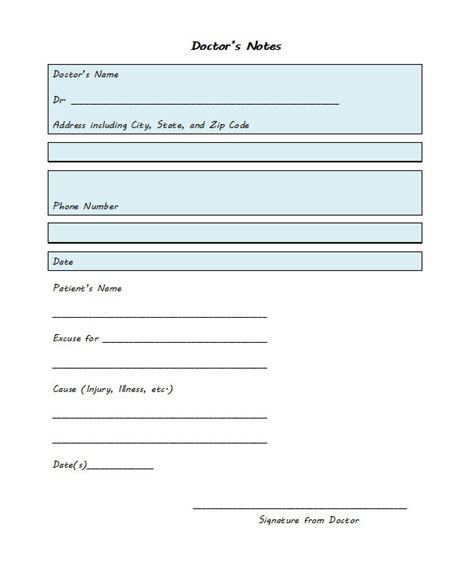 dr note template free 27 free doctor note excuse templates free template
