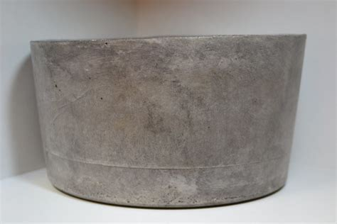 large concrete planter large gray concrete planter by rosebud designs