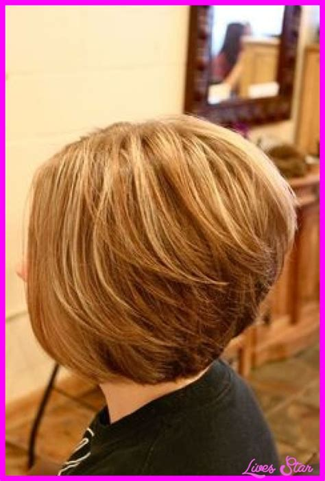 bob with stacked in back and short in front back view of short hairstyles stacked livesstar com