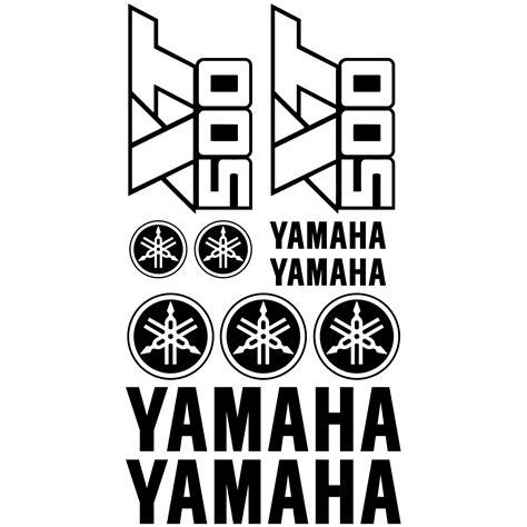Aufkleber Yamaha Xt 500 wandtattoos folies yamaha xt 500 aufkleber set