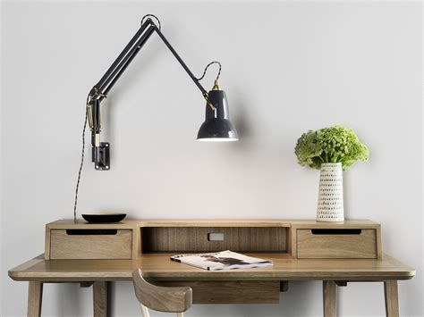 wall mounted desk light buy the anglepoise original 1227 brass wall mounted l