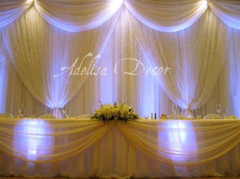 drape lighting elegant wedding reception backdrop ivory drape lighting