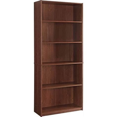 Storage Bookcase Adjustable Wood Storage Shelving Book Bookcase Wide 5