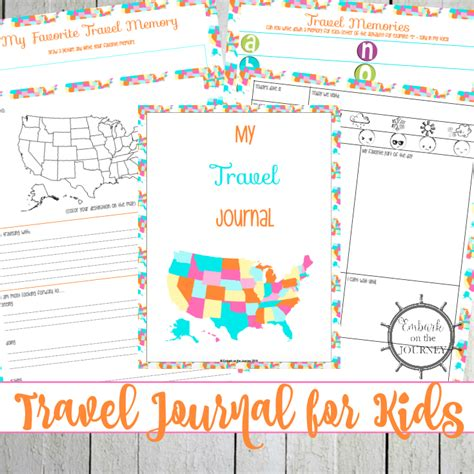 printable vacation journal printable travel journal for kids to record vacation memories
