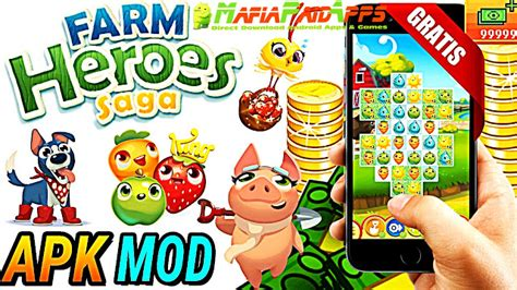 download game farm heroes saga mod apk farm heroes saga apk mod lives hero moves android