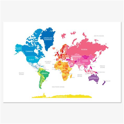 5 really cool world maps to show kids the world kids