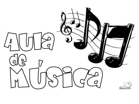 imagenes para dibujar musica carteles aula musica dibujalia dibujos para colorear