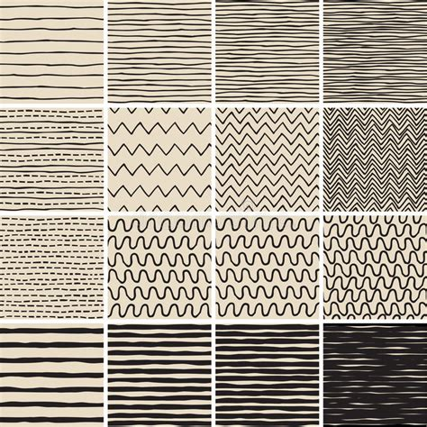 basic doodle seamless pattern set no 8 in black and white basic doodle seamless pattern set no 6 in black and white