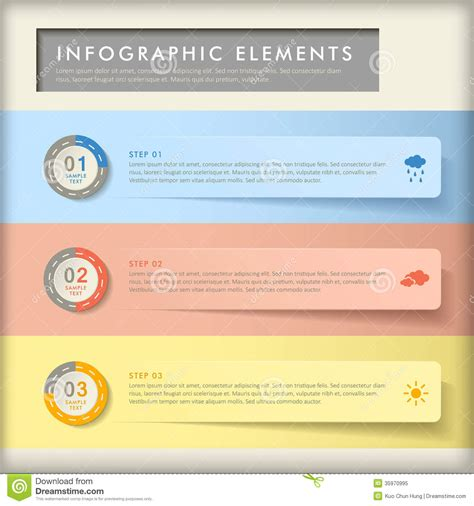banners flat design elements vector 18 abstract banner infographics stock vector illustration