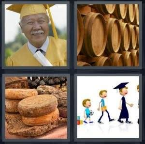 chinese film with 6 letters 4 pics 1 word answer for graduate barrels cheese growth
