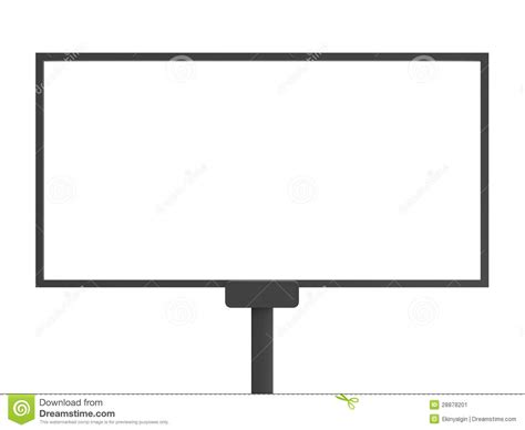 billboard template blank billboard stock image image 28878201